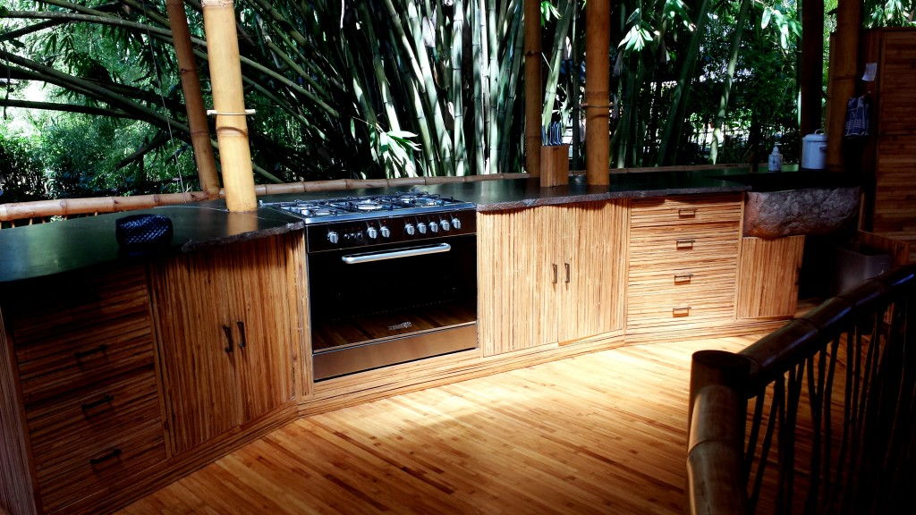 Sleek bamboo kitchen