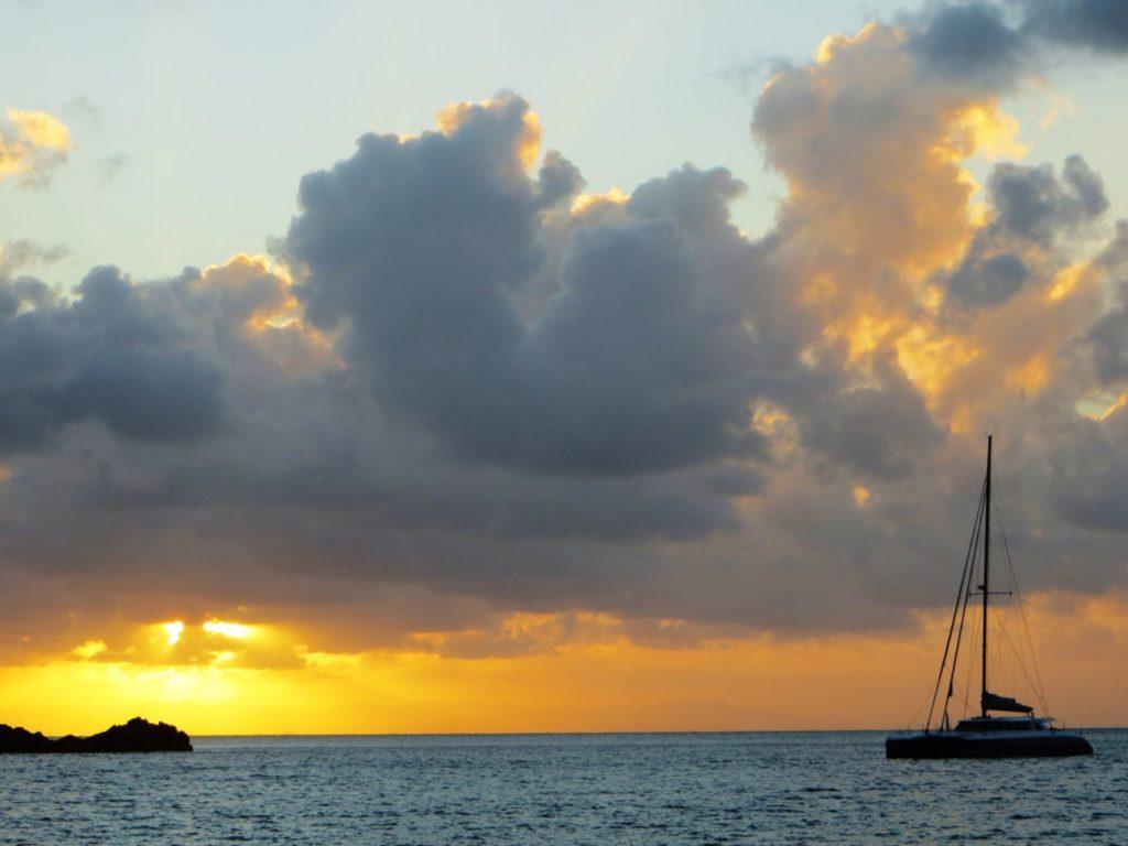 Sunset Brampton Island Boat