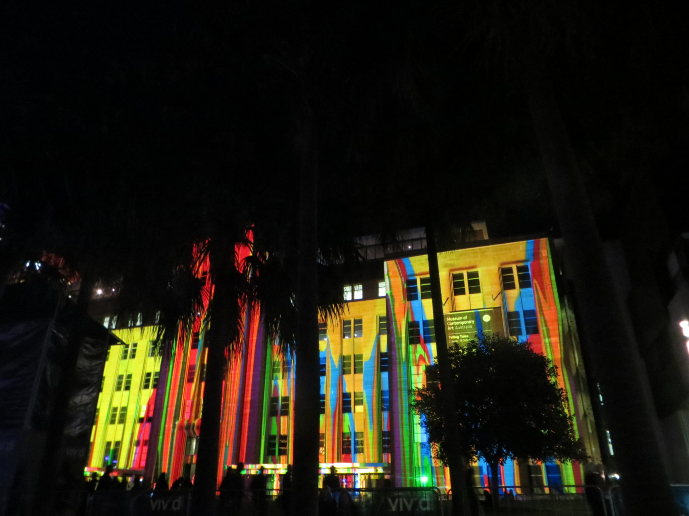 Abstract Paintings Projected on MCA Sydney