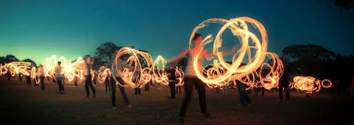 Fire spinning Confest