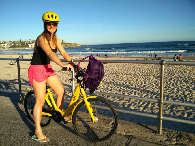 Ofo bike at Bondi Beach